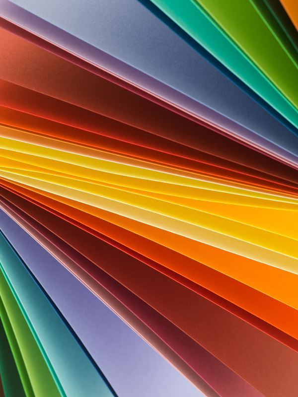 macro image of multi colored paper. abstract background